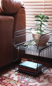【4color】STACKS WIRE STORAGE OPEN BASKET [A4]L size_スタックスワイヤーストレージオープンバスケット