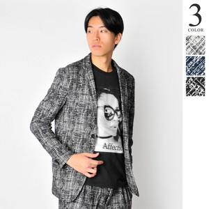 A/W Jacquard Weaving Tailored Jacket Men's Checkered Suit Set