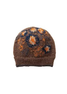 Floral Pattern Card Knitted Cap