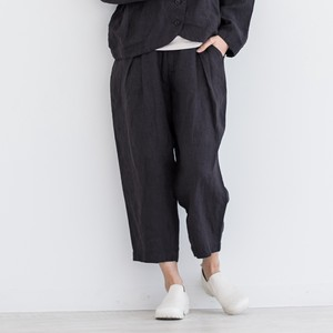 Linen Canvas Tuck Pants