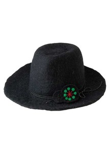 Flower Embroidery Felt Hat Hats & Cap