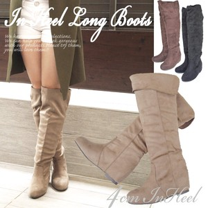 Long Boots Return Heel Suede