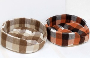 Modern Tweed Checkered Pet Bed