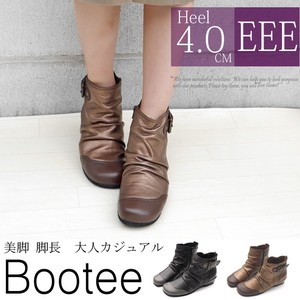 Boots Bootie Zipper Middle Heel