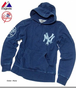 Major League New York Yankees Indigo Dyeing Fleece Sweat Hoody