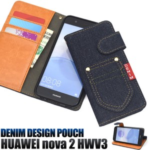 Smartphone Case Pocket Denim Design Notebook Type Case