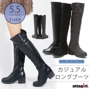 2018 A/W Heel Knee-high Boots
