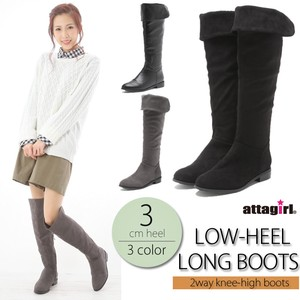 2018 A/W Heel Heel Knee-high Boots