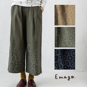Early Spring Embroidery wide pants