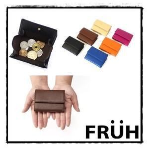 c9cb9e73b05d 【FRUH】コンパクト・ウォレット イタリアンレザー三つ折り財布 GL032