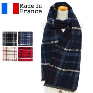 A/W A/W Scarf France Checkered Long Scarf