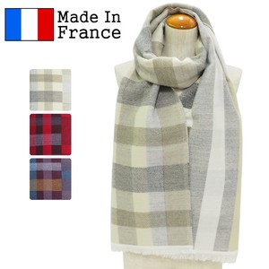 Clearance Sale A/W Stole France Checkered Stripe Long Scarf