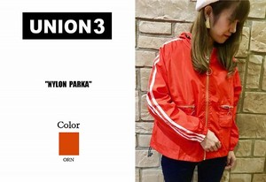 Korea Fashion Nylon Jacket Blouson Zip‐up Jacket Arm Line