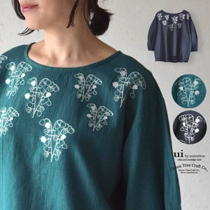 Lily Of The Valley Embroidery Blouse Linen Blend