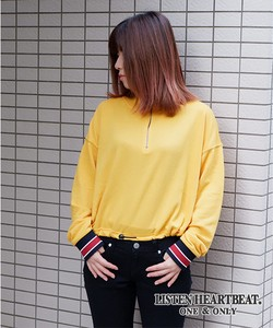 Fleece Attached Ring Short Sweatshirt Sweat High Neck