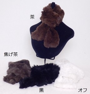 Rex Hand Knitting Scarf Fur Real Fur