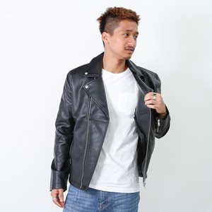 Double Motorcycle Leather Jacket