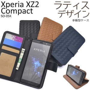 Smartphone Case Xperia XZ Lattice Design Notebook Type Case