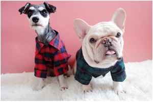 Pet Product Dog Checkered Shirt Pet