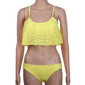 Bikini Lace Frill Attached Swimwear