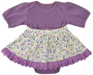 Anna Nicola Floral Pattern Apron 6/10Length One Piece Baby