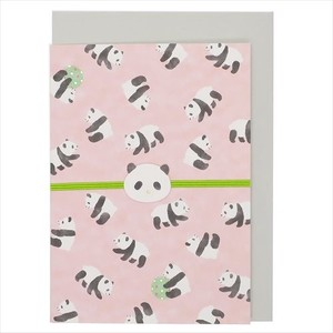 Greeting Card Panda Bear Envelope Attached Message Card