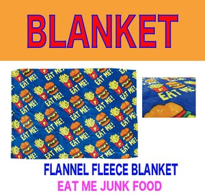 Fleece Blanket Flannel Blanket A/W Hamburger Potato