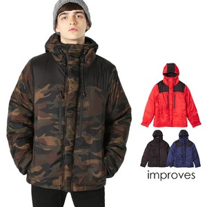 Down Jacket Men's Outerwear Light-Weight Dazzle Paint Camouflage