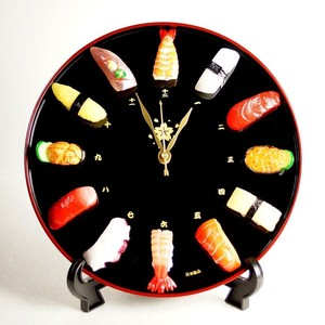 Sushi Clock/Watch Interior Food Product Sample Wall Clock Table Clock Stand Attached