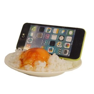 Smartphone Stand Food Product Sample Egg Rice Interior