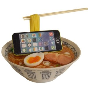 Smartphone Stand Food Product Sample Soy Sauce Ramen Interior