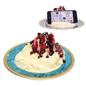 Smartphone Stand Vanilla Blueberry Food Product Sample Interior