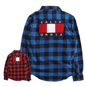 Men's Patch Block Check Long Sleeve Shirt