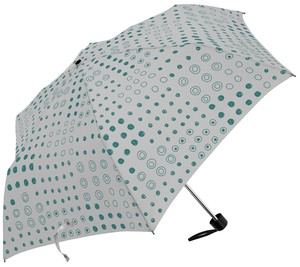 Hand-Painted Dot Glass Fiber Compact Umbrellas Ladies