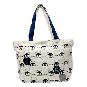 PEN PEN Loop Zipper Top Horizontal Canvas Tote Animal