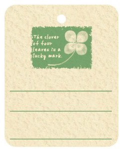 Price Tag Four Leaves Clover