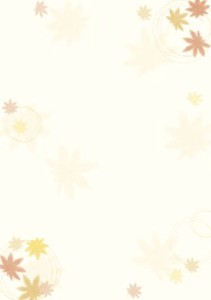 A4 Post Card Japanese Pattern Paper Autumn Colors