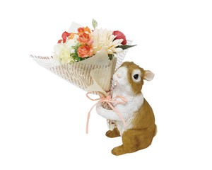 Bouquet Rabbit Brown Air Beautiful