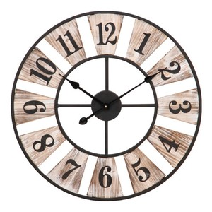 Wall Clock Wood Deck