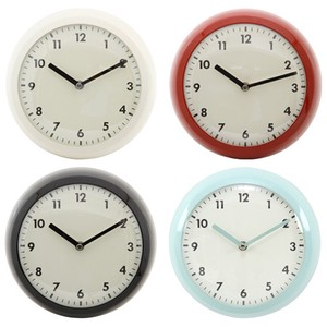 Wall Clock Retro Steel Frame 3 Colors