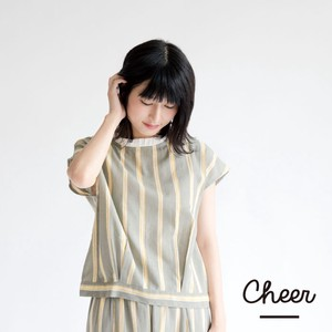 Stripe Frill Color Blouse