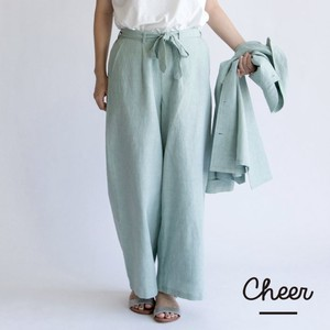 Cotton Linen Ribbon Pants