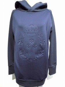 Front Emboss Processing Switching Hoody Tunic