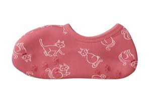 ぽかぽかそっくす ショート おすましネコ ピンク ☆リピータ続出のあったか防寒靴下♪