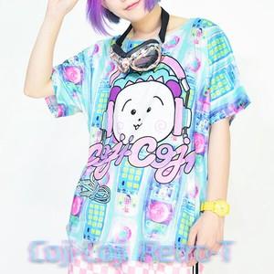 0a74923d6829 Retro T-shirt Headphone Character Light Blue