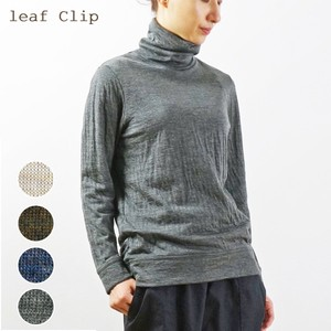 2018 A/W Wool Double Weave Knitted Turtle Neck T-Shirt Shirt Natural