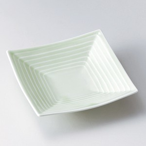 Square High Ground Plate Plate Mino Ware
