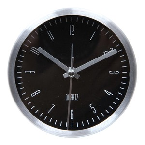 Table Clock Round 2 Colors Black White
