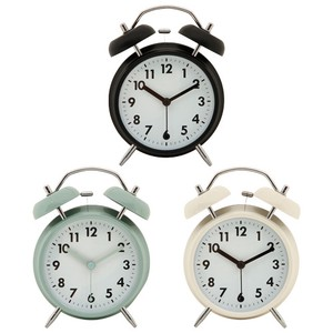 Table Clock Objects and Ornaments Ornament 3 Colors Black Pale Blue Ivory