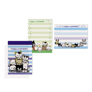 Tama&Friends Memo pad Stripe Cat